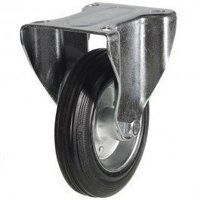 200DR8BSB 200mm Black Rubber Steel Centre Castor -...