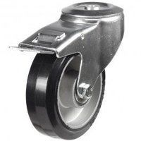 200DRBH12EABJSWB 200mm Black Elastic on Aluminium Centre - Bolt Hole Braked