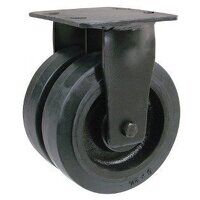 2BZKF125CRBJ 125mm Black Elastic on Cast Iron Heav...