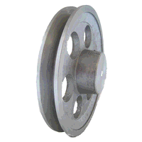 4 Inch A Section single groove Aluminum Pulley to suit 1HP motor
