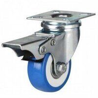 50AG4BEPVCBJSWB Poly on Nylon with Pressed Steel Bracket - Swivel Braked