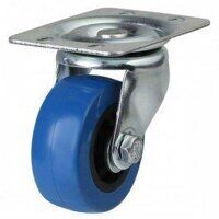 50AG4BPVC 50mm Blue Elastic Poly with Plastic Centre Castor - Swivel