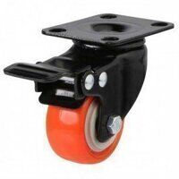 50AG4RPUBJSWB Swivel Braked Poly on Nylon with Pressed Steel Bracket - Swivel Braked