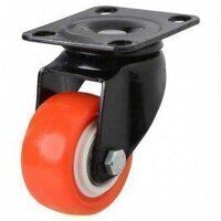 50AG4RPUBJ Poly on Nylon with Pressed Steel Bracket - Swivel