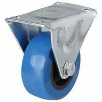 50AG8BPVC 50mm Blue Elastic Poly with Plastic Centre Castor - Fixed