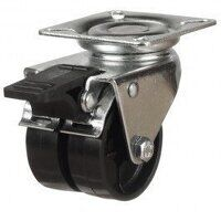 50DR24NYSWB 50mm Twin Wheel Nylon Castor - Swivel ...