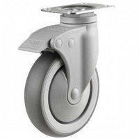 75DP4TPRSWB Synthetic Non-Marking On Plastic Bracket - Swivel Braked