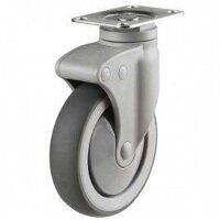 75DP4TPR Synthetic Non-Marking On Plastic Bracket - Swivel