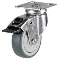 75GD4GRGSWB 75mm Synthetic Non-Marking on Plastic Centre - Swivel Braked