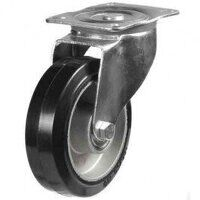 80DR4EABJ 80mm Black Elastic on Aluminium Centre - Swivel