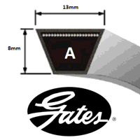 A124 Gates Delta Classic V Belt (Please enquire for product availability)