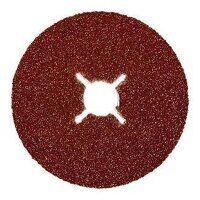 ABFD100080A 100mm x 16mm Abracs Aluminium Oxide Fibre Sanding Disc - 80 Grit (Pack of 25)