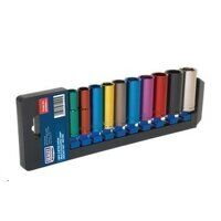 AK285D Sealey 10pc 3/8inch Sq Drive 6pt Deep WallDrive® Metric Multi-Coloured Socket Set