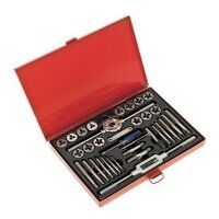 AK3033 Sealey 33pc Split Dies Tap & Die Set - Metr...