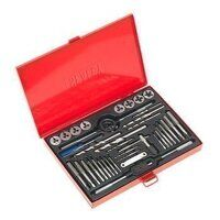 AK3037 Sealey 37pc Split Dies Tap & Die Set - Metr...