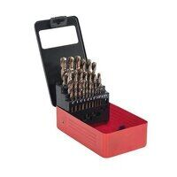 AK4702 25pc Metric HSS Cobalt Split Point Fully Ground Drill Bit Set