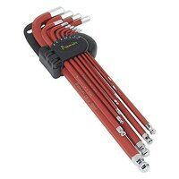 AK7164 Sealey 11pc Anti-Slip Extra-Long Metric Ball-End Hex Key Set