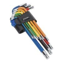 AK7193 Sealey 9pc Colour-Coded Long TRX-Star Key Set