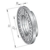 AXW25 Axial Needle Roller Bearing with W...