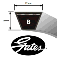 B107 Gates Delta Classic V Belt (Please enquire for product availability)