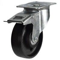 100DR4CIBSWB 100mm Cast Iron Wheel Castor - Braked