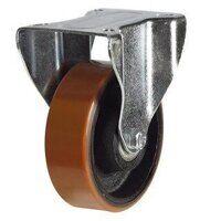 BZPHF150PTB 150mm Polyurethane Tyre Industrial Castor - Fixed 4 Bolt Hole Unbraked