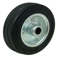 Black Rubber Tyre - Steel Centre Wheels