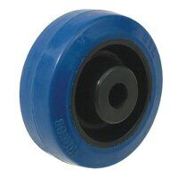 BZH160WRNRB 160mm Blue Elastic Rubber Wheel