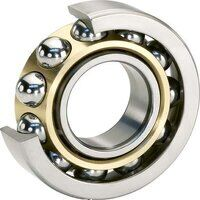 7202-BEP Single Row Angular Contact Ball Bearing (...