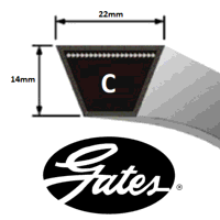C114 Gates Delta Classic V Belt (Please enquire for product availability)