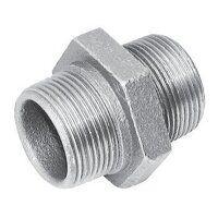 C144-34 3/4inch BSPT Crane Equal Hexagonal Nipples, Fig. 144 - Galvanised