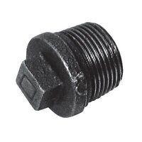 C146-12N 1/2inch BSPT Crane Solid Plugs, Fig. 146 - Black