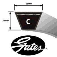 C255 Gates Delta Classic V Belt (Please enquire for product availability)