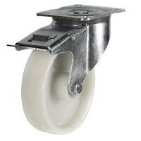 BZP125NYBSWB 125mm Nylon Wheel Roller Bearing Heav...