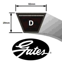 D148 Gates Delta Classic V Belt (Please enquire for product availability)
