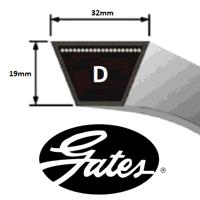D255 Gates Delta Classic V Belt (Please enquire for product availability)