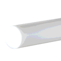 Delrin Rod 135mm dia x 250mm (Natural/White)