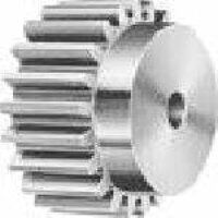 DS08/12B 0.8 Mod x 12 Tooth Metric Spur Gear in Delrin