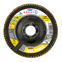 Dronco Alox Power 115mm x 22.23mm Flap Disc - 40 Grit (Pack of 10)