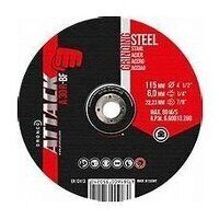 Dronco Attack 180mm x 6mm Metal Grinding Disc