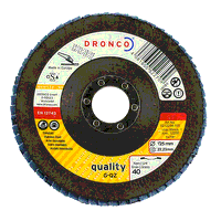 Dronco G-QZ Quality 115mm x 22.23mm Flap Disc - 60 Grit (Pack of 10)