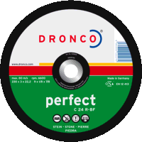 Dronco Perfect 115mm x 3mm Stone Cutting Discs (Pack of 25)