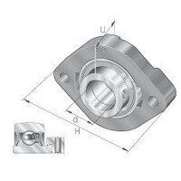 FLCTE17 17mm INA 2 Bolt Flanged Bearing