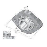 FLCTEY17 17mm INA 2 Bolt Flanged Bearing