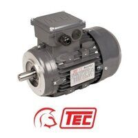 TEC IE2 Electric Motor 0.75kW 3ph 6 Pole B14 Face ...