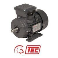 TEC IE2 Electric Motor 0.75kW 3ph 4 Pole B3 Foot M...
