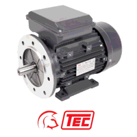 TEC Electric Motor 0.37kW 1ph Cap/Cap 240V 4 Pole Foot & Flange Mounted