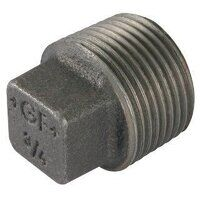 GF291S-18N 1/8inch George Fisher Solid Plugs, Fig. 291S - Black