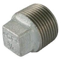 GF291S-1 1inch George Fisher Solid Plugs, Fig. 291S - Galvanised