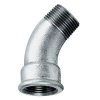 GF40-114 1.1/4inch BSP George Fisher Equal 45° Bends, Fig. 40 - Galvanised